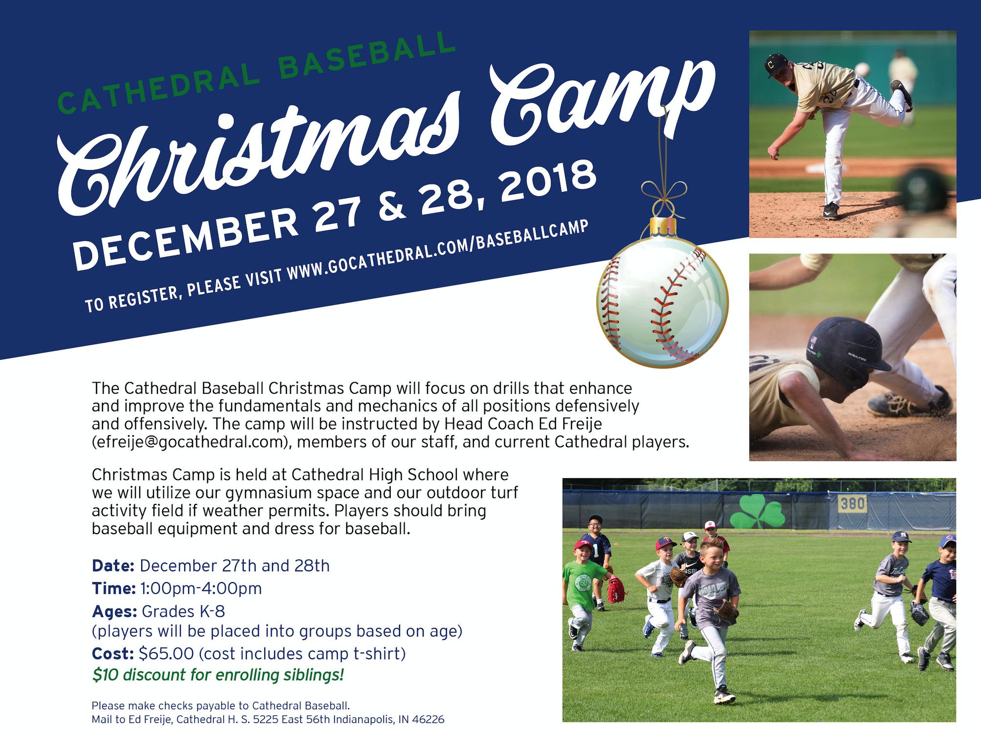 Cathedral Irish: Baseball Christmas Camp 2018